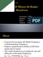 Types of Mixers in Radar Receivers