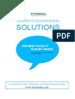 Etoosindia.com Neet 2016 Sample Paper 3 Solutions