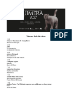 Programa Festival Quimera 2017