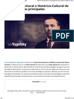 Teoría Sociocultural o Histórico-Cultural de Vygotsky