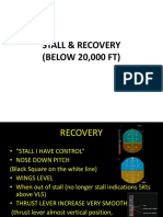 A320 Stall Recovery procedure(clean aircraft)