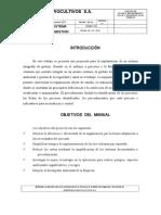 Manual Del Sig - Agrocultivos s.a.