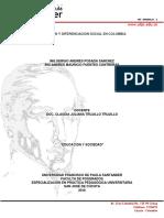 Educacion y Diferenciacion Social en Colombia