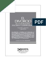 El Divorcio en la Legislación, Doctrina y Jurisprudencia