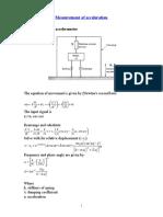 Measuerment of Accleration