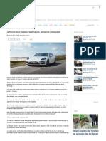 Kapitalis La Porsche Lance Panamera Sport Turismo, Son Hybride Rechargeable - Kapitalis