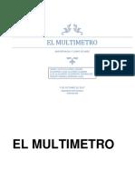 Trabajo de Mantenimiento Electronico sobre el multimetro