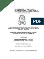 Los Procesos de Selección Para La Integración Del Jurado y Su Incidencia en El Juzgamiento de Los Delitos de Manera Imparcial