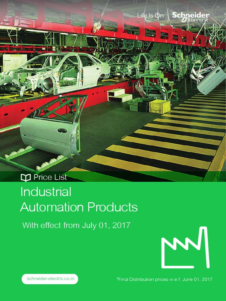 Schneider Rate List Industrial Automation Products1st July 2017