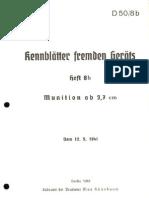 Kennblätter Fremden Geräts, Munition ab 3,7cm (1941)