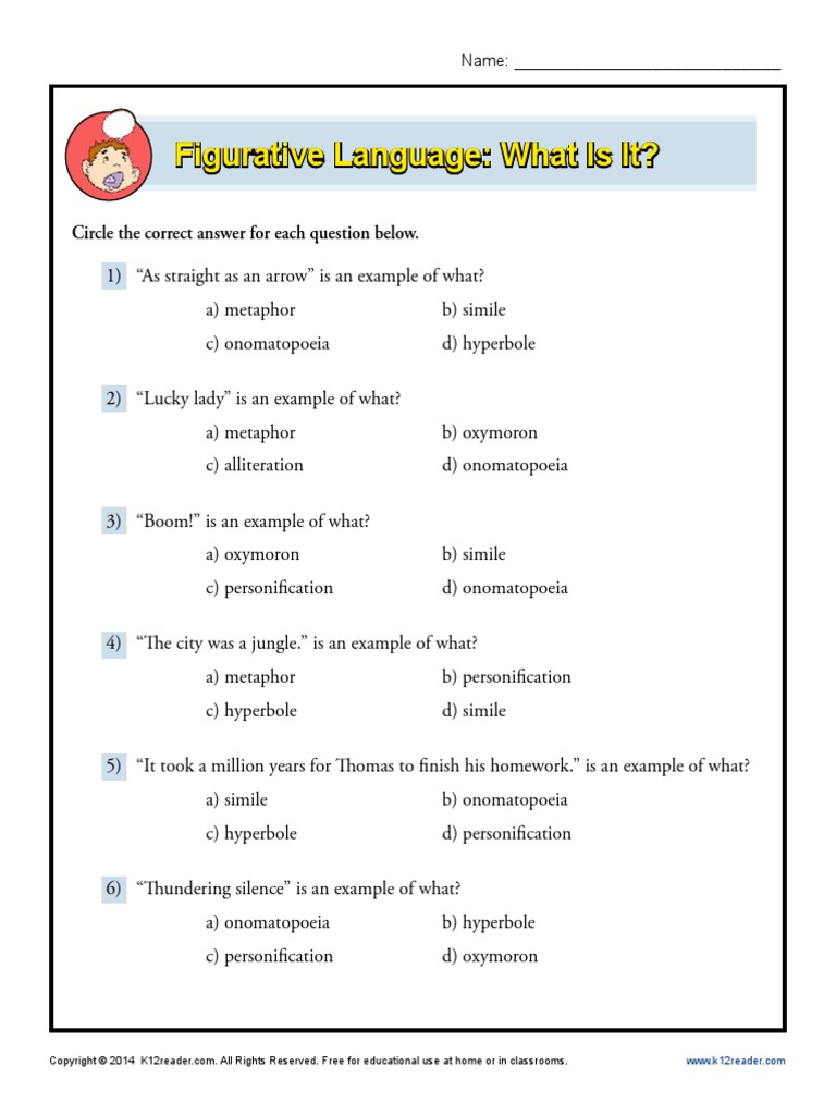 Workbooks personification worksheets pdf : Figurative Language= What Is It= | Style (Fiction) | Philology