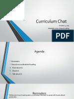 curriculum chat october 3