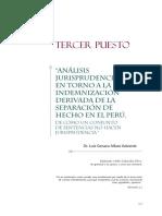 Análisis juridisprudencial en torno a la indenmización derivado de la separación de hecho en el Perú