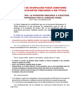 El Delito de Usurpación Puede Cometerse Contra Contra Ocupantes Precarios o Sin Título (Arreglado)