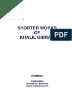 Shorter Works of Khalil Gibran by Khalil Gibran