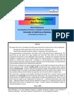 Derivatives Performance Attribution