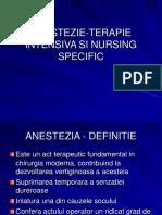 Anestezie-terapie Intensiva Si Nursing Specific