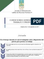 Gestión de Recursos Humanos. Condiciones Generales de Trabajo y Prestaciones (1)