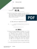 Draft legislation