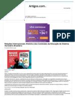 Relações Internacionais_ Histórico Dos Conteúdos Da Educação Do Sistema Aeroviário Brasileiro - Artigos
