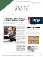"""Mauro Biglino_ """"La Biblia No Es Un Libro Sagrado"""" _ ¡Ay Va!"""