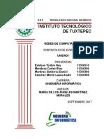 Portafilio de Evidencias Redes (Unidad II)