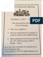 West Humboldt Park Community Meeting