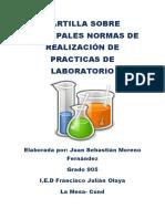 Cartilla Sobre Principales Normas de Realización de Practicas de Laboratorio