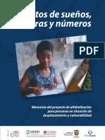 Alfabetización para personas en situación de desplazamiento y vulnerabilidad