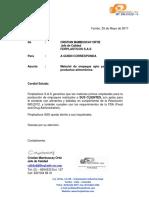 Carta de Garantia - Ferplasticos