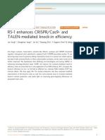 RS-1 Enhances CRISPR/Cas9- And TALEN-mediated Knock-In Efficiency