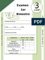 3er Grado - Examen Bloque 1 (2017-2018)