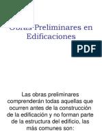 CLASE III Obras Preliminares en Edificaciones