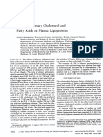 Effects of Dietary Cholesterol and Fatty Acids on Plasma Lipoproteins