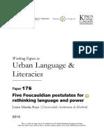 Martín Rojo, L. - Five Foucauldian Postulates for Rethinking Language and Power