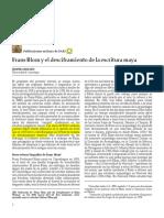 Nielsen, Jesper - Frans Blom y El Desiframiento de La Escritura Maya