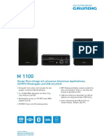 Grundig M 1100 - User's manual.