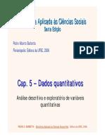Cap 5 - Dados Quantitativos
