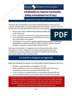 FACT SHEET Reducing Criminalization to Improve Community Health and Safety Amendment Act