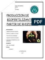 Produccion del rhizobium