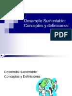 Desarrollo Sustentable- Conceptos y Definiciones