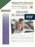 Boletin Informativo #16, Ministerio de Educación, El Salvador, 1997