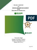 Crm in Religare Securities Ltd.