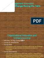 2015 Fall Semester Organizational Innovation and Entrepreneurship Syllabus