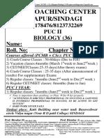 PUC II Biology Chapter 1