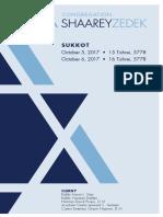 Services Card Sukkot Days 1 & 2 October 5-6, 2017