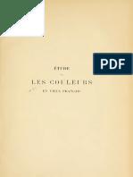Étude Sur Les Couleurs en Vieux Français (1899) - OTT, André G