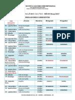 Agenda Fixa Março 2017