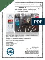 Prac.1 Determinación Del Ph de Agua Embotellada y Otras Muestras.