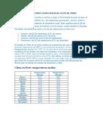 Estaciones Climatologicas en El Peru